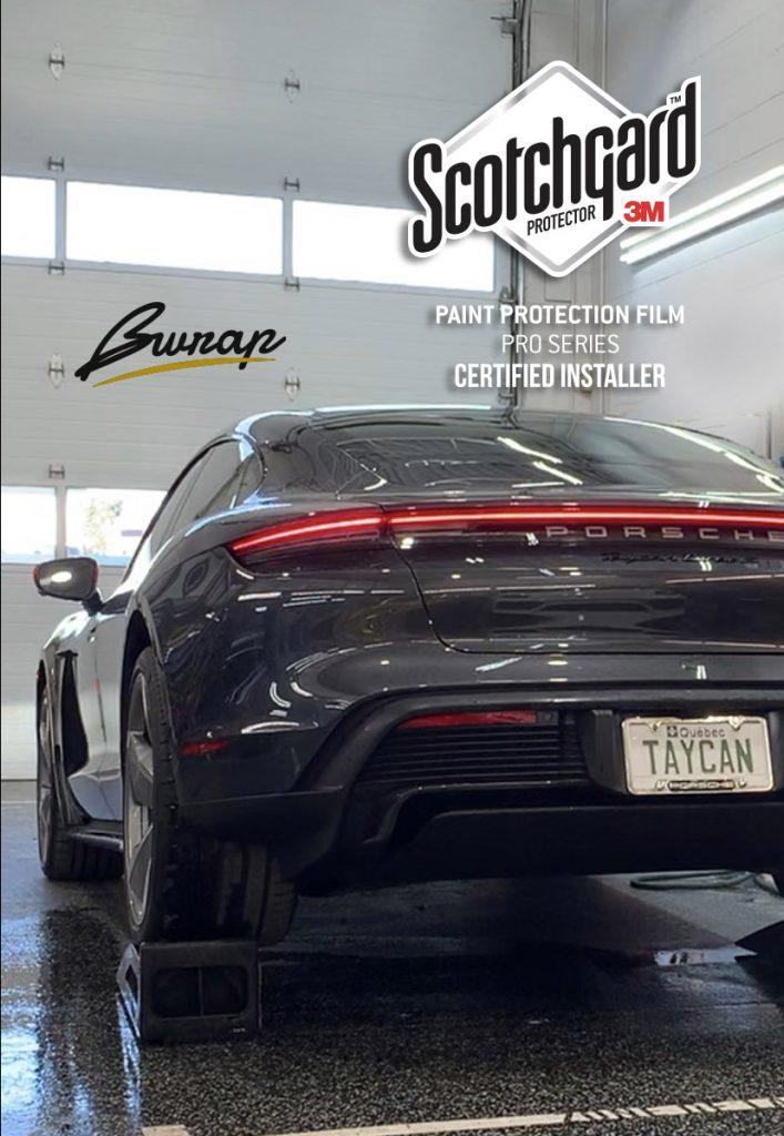 Porsche Taycan full PPF 3M pro Serie gloss